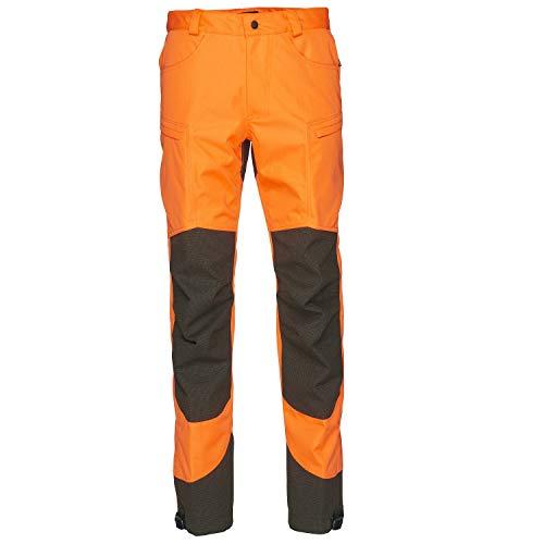 Seeland wasserdichte Jagdhose Kraft für Herren in Hi-Vis Orange mit SEETEX®-Membran - Robuste verstärkte Drückjagdhose mit YKK®-Reißverschluss, Größe:50