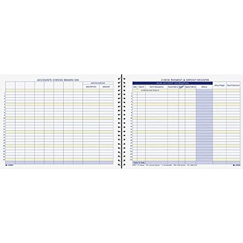 Adams Verificar o registro de pagamento e depósito, 21 cm x 28 cm, 44 páginas (AFR60), branco