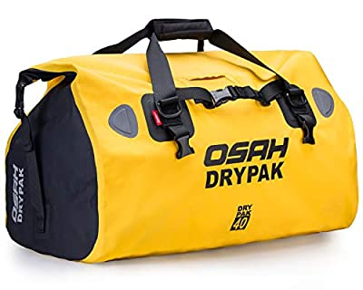 Motorcycle PVC Waterproof Reflective Tail Dry Bag Saddle Luggage Outdoor Duffle Accessories Yellow 40L from IRON JIA'S