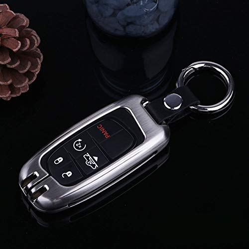 Maojqz Smart Keyless remote sleutelhanger sleutelhanger beschermhoes zinklegering autosleutelhoes. Voor Jeep Cherokee 2013 2018. Voor Dodge Ram Truck