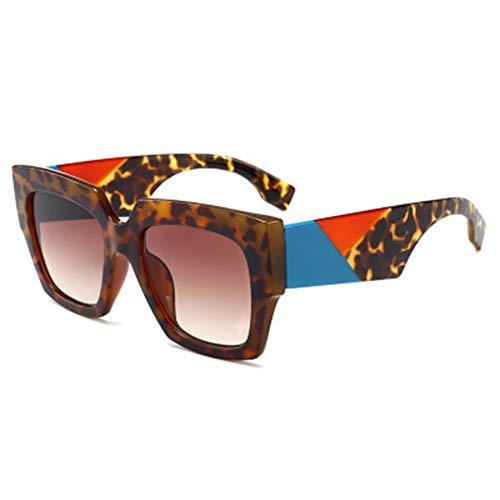 AEF Gafas Sol Polarizadas con Montura Cuadrada Gran Tamaño para Mujer UV400,3