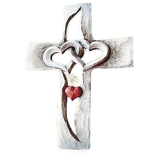 Hztyyier Houten muur opknoping kruis houten kruis muur decoratie, opknoping muur kruis, Jezus Christus muur kruis voor thuis woonkamer decor accessoire