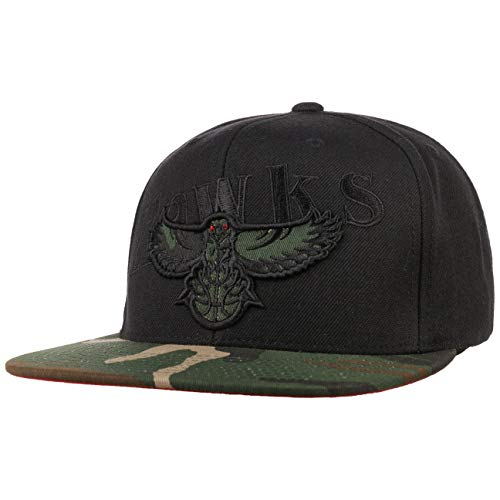 Mitchell & Ness Gorra Camo Brim Hawks& de Baseball NBA Cap (Talla única - Negro)