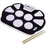 DigitalLife Tambour Batterie Electronique de 9 Pad Drum Pad Kit de Practice Instrument - Pad de Percussion d'Entraînement avec Baguettes