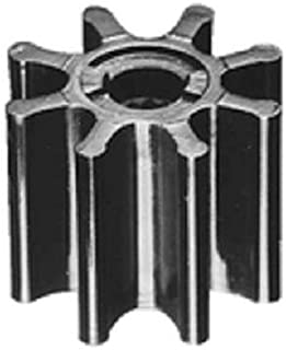 Jabsco 920-0003-P,  Nitrile,  Drive Type 7,  8 Blade,  2-9/16 Diameter,  2 Width,  5/8 Shaft,  Brass Insert
