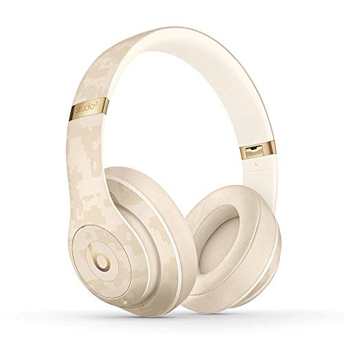 Beats Studio3 Wireless Noise Cancelling On-Ear Headphones - Apple W1 Headphone Chip, Class 1 Bluetooth, Active Noise Cancelling, 22 Hours Of Listening Time - Sand Dune