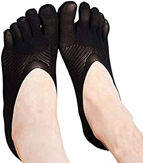 Women's Toe Compression Socks Soft Five Finger Toe Socks No Show Full Cut Liner Non Slip Hidden Invisible Socks