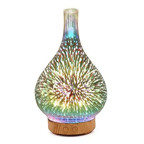 SUQIAOQIAO Luz De Aroma Eléctrica De Cristal 3D, Aromaterapia Decoración De La Luz De La Noche De La Decoración De La Aromaterapia, La Lámpara del Calentador De Fragancia De La Fragancia De La Cera