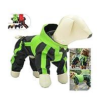 新たにペットの犬の服レインスノーコート防水レインコート4脚中小大型犬用レインコート-Orange-XL