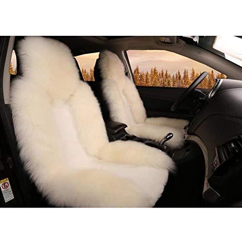 1 Vordersitzbezüge Winter Warme Sitzkissenbezug Australische Schaffell Wolle Autositzbezug für Vordersitz Weiche Flauschige Meisten Auto LKW SUV,C
