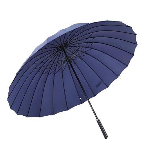 Paraguas Paraguas de Golf Durable Plegable Antideslizante Sólido Sunny Rain 210T Al Aire Libre Largo Suuny y Doble Uso 24 Somier de Mango Recto B