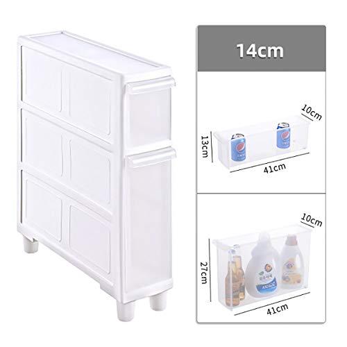 14cm Küche Lagerschrank, Kunststoff Mehrschichtige Schublade Grenzen Schrank Badezimmer Slot Lagerschrank ctg (Size : 2 drawers)