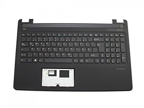 MEDION Tastatur inkl. Topcase DE (deutsch) schwarz/schwarz inkl. roten WASD-Pfeilen Original 40059155 Erazer P6661, P6679