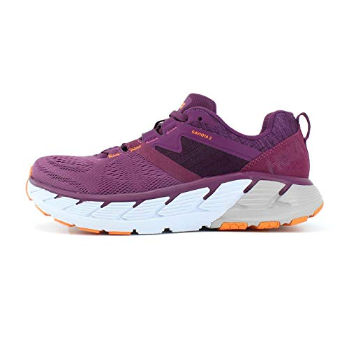 HOKA ONE ONE Womens Gaviota 2 Walking Shoe, GRPE JCE/BRHT MRIGLD, 8.5