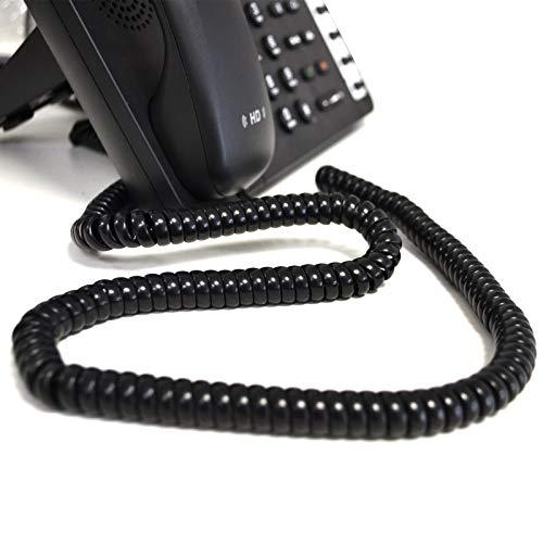 Teléfono Auricular Spire RJ10 Clavija a RJ10 Clavija Cable Cable Negro 5 m [5 metros/5m]