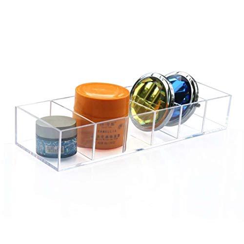 Yxsd Acrylique 6 Grille Maquillage Organisateur Poudre Boîte De Stockage Rouge À Lèvres Outils Fard À Paupières Cas Bijoux Boîte Cosmétique