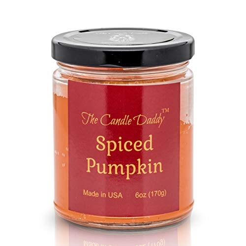 The Candle Daddy Spiced Pumpkin Spice Scented Candle – Great Fall Scent for Autumn, Halloween, and Thanksgiving - 6 oz Jar Candle – Fall Scent Candle Poured in Small Batches in Indiana