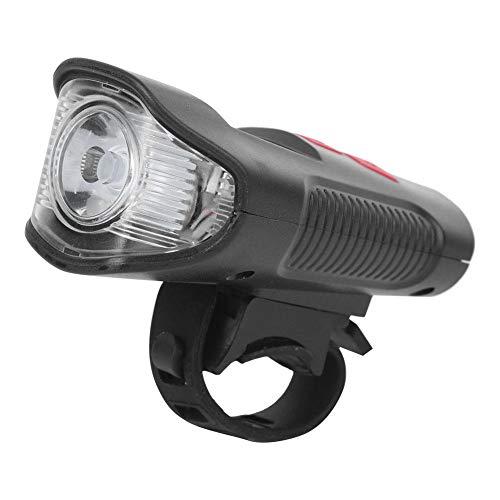 Keenso Luz de Bicicleta Recargable por USB, ABS Rojo Luz de Bicicleta...