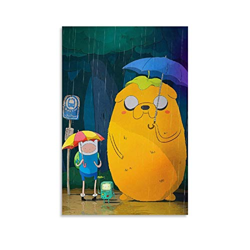 xingqisi Póster de la serie Anime Adventure Time – con Finn & Jake lienzo artístico y arte de pared impresión artística moderna para dormitorio familiar 30 x 45 cm