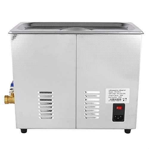 Limpiador sónico 6L 240W, limpiador ultrasónico comercial, máquina de limpieza ultrasónica de acero inoxidable con control de temperatura para dentaduras postizas, gafas, relojes, metal