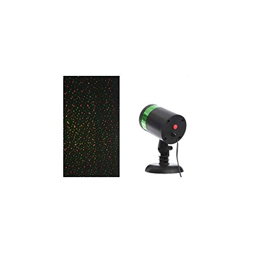 LineteckLED P51.650.16N Proiettore led Multicolore rosso e verde, Proiettori natale led, Proiettori natale impermeabile, proiettore led natalizi, addobbi natalizi per interno esterno casa luci natale