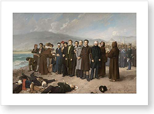 'Fusilamiento de Torrijos y sus compañeros en las playas de Málaga', impresión oficial del Museo del Prado