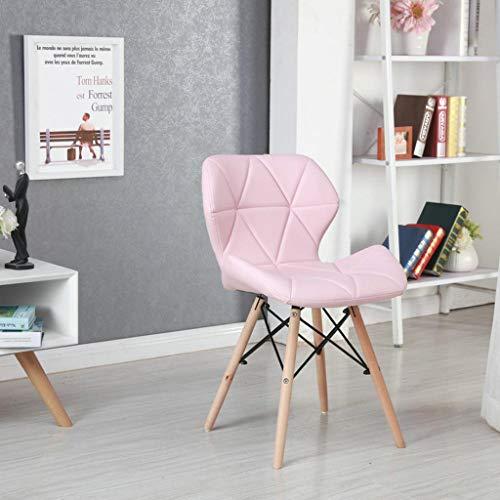 Preisvergleich Produktbild JNBIJJ Moderner Stil Barhocker, Sessel Esszimmerstuhl Bars Cafés Bürostuhl Wohnzimmer Mit Rückenlehne Baumwollkissen Pink-400 * 490 * 720mm