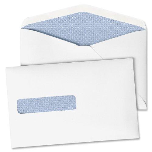 品質の公園保存切手封筒、28?kg、6?x 9.5インチ、ホワイトメイド・ウィンドウ、ボックス500?( 90063?)
