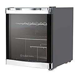 net capacity 46 litres, 12 bottle capacity 2 x chrome shelves and 1 chrome rack, adjustable foot dimensions (cms): (h)51 x (w)48 x (d)43 this appliance is rated a for energy efficiency, being sure to keep energy bills down whilst adding extra cooling...
