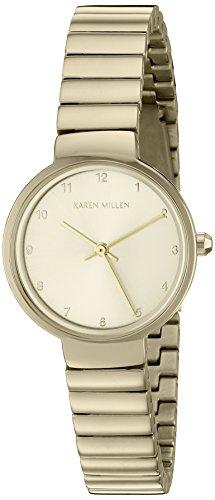 Karen Millen KM131GM Dames vergulde armband horloge