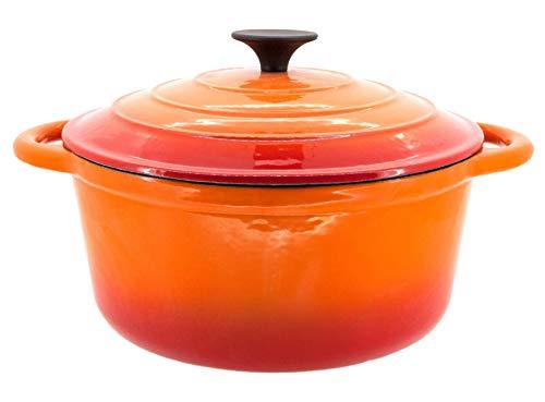 Gusseisen-Kasserolle 26 cm (orange)
