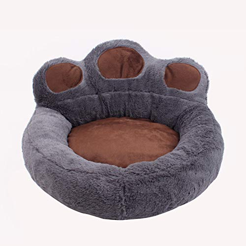 Kuschel Hundebett Katzensofabettmatte Ultra Soft Cosy Orthopaedic Katzenschlafmatratze Hundedecke, Hundebett Waschbar,Grau,S