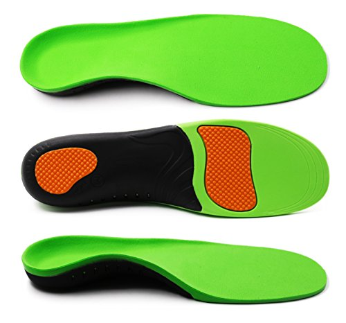 Orthotic Insoles Arch & Heel Support for Men and Women Inner Soles Full Length Shoe Inserts for Sports, Flat Feet and Replacement by ERGOfoot [S]