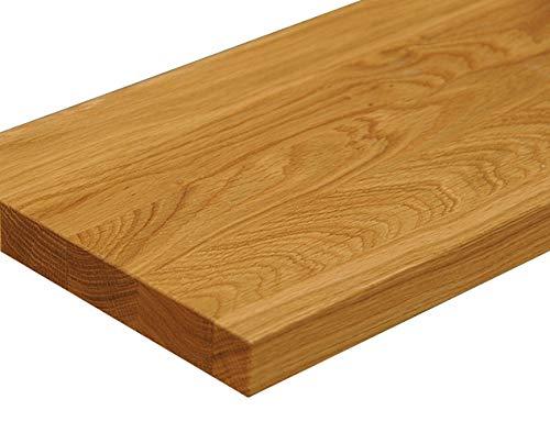 Wandbord Wandboard Design Livingboard Regal massiv Holz - Verschiedene Holzarten wählbar - Tiefe:20cm Dicke:25mm (Eiche, 30cm)
