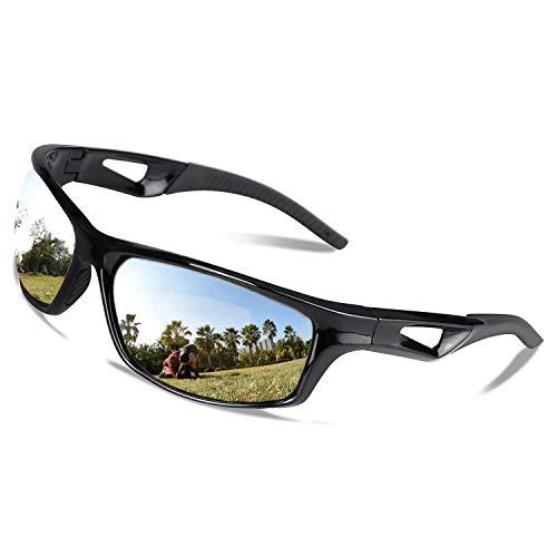 V VILISUN Occhiali da Ciclismo Polarizzati Occhiali da Sole Sportivi Occhiali da Ciclismo con Protezione UV400 per Montatura Unisex, Infrangibile in TR90, per attività all'aperto