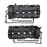 MITZONE N62 Valve Covers Set With Gaskets & Bolts Compatible with 2004-2010 BMW X5 550i 545i 650i 745i 745Li 750Li 4.4L 4.8L V8 Replace 11127522159 11127563474