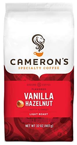 Cameron's Coffee Roasted Ground Coffee Bag, Flavored, Vanilla Hazelnut, 32 Ounce