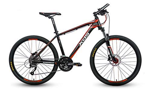 Mountainbike 27 Geschwindigkeiten Herren Hardtail Mountainbike 26 Zoll Reifen Und Aluminium Rahmen Gabel Federung,Black red