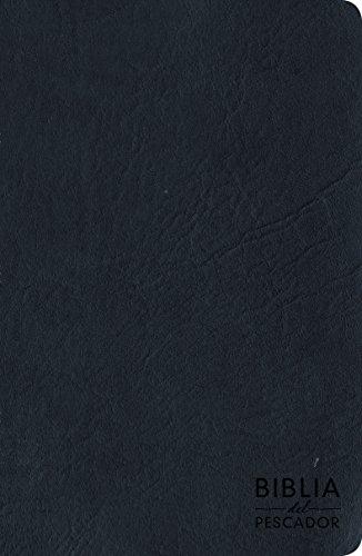RVR 1960 Biblia del Pescador letra grande, azul símil piel