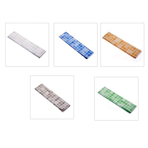 Liqiqi - Adhesivo decorativo para pared, diseño de mosaico, adhesivo, para pared, cocina, baño, decoración, azulejos, impermeable, 45 x 70 cm