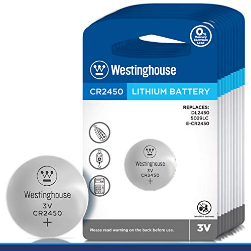Westinghouse CR2450 Lithium Button Cell, Button Battery, Remote Battery,...