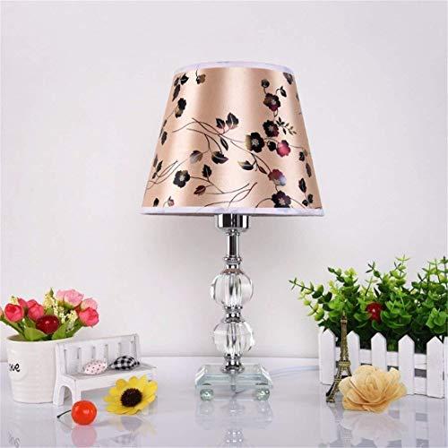 BXU-BG Lámparas de mesa, lámparas de escritorio con estilo minimalista, cristalina antigua Telas dormitorio de noche, los niños que trabajan Rines decorativos