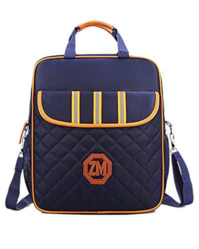 Rucksack Mädchen Canvas Rucksack Handtasche Schultaschen Schulranzen Lässiger Schulrucksack für Mädchen Jugendliche Jungen Saphirblau Einheitsgröße