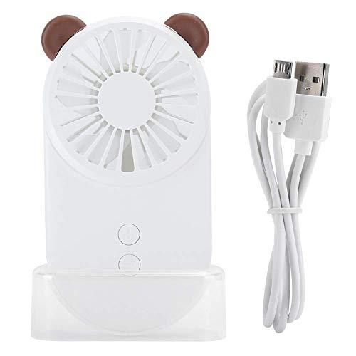 MUMUMI el Usb Aviva la Mini Fan de la Historieta Ys2910, Pequeña Computadora de Carga por Usb Del Refrigerador de Aire para la Mesa,Blanco