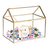 Mostbest Glass Wedding Card Box, Glass Gift Boxes, Terrarium Card Holder Perfect for Centerpiece Decor,Wedding Receptions, Planter Holder, Gift & Display Box (8.26'x5.9'x7.48')