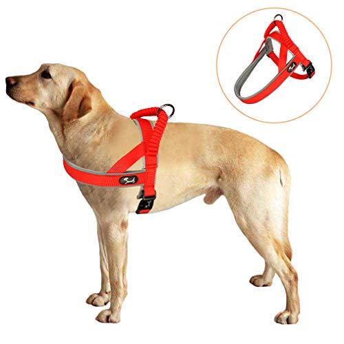 Lampop Hundegeschirr für Kleine Mittlere Hunde Geschirr Reflektierend Wasserdicht Sichergeschirr Große Hunde Brustgeschirr Dog Harness Geschirr Weich Gepolstert (XS-S-M-L)