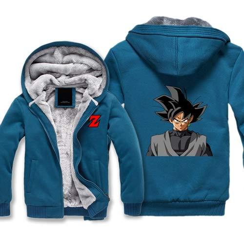 XCGM Sweatshirt Herbst-und Winterkleidung sowie Samt Hoodie Strickjacke Anime Sieben Drachen Perlen Kostüm Sun Wukong Avatar Herren Pullover