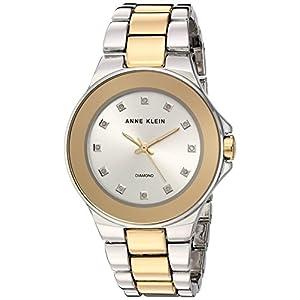 Anne Klein AK/2755SVTT Reloj de pulsera de dos tonos con detalles de diamante