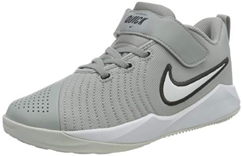 Nike Team Hustle Quick 2 (PS), Zapatillas de bsquetbol, Lt Smoke Grey White Dk Smoke Grey Photon Dust, 29.5 EU