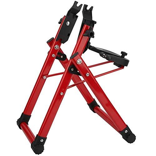 Aluprey Lega di Alluminio Rosso Semplice e conveniente Bicycle Wheel Centraruote Stand Casa Bike Repair Maintenance Support Accessori Strumenti